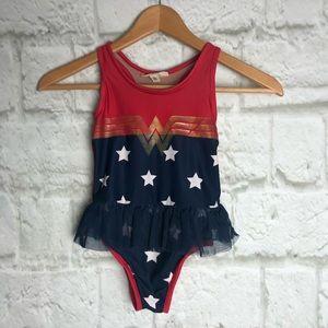 Girls 5 GAP DC Wonder Woman swimsuit 1 piece
